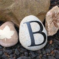 Stenciled Garden Rocks
