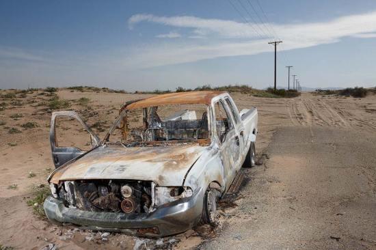 Salton Sea abandoned pickup truck