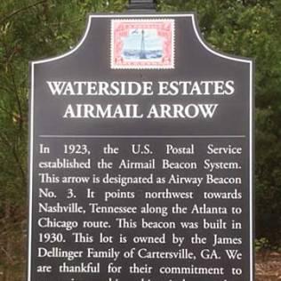Atlanta Nashville Airway Beacon 3 Cartersville Georgia