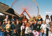 Witte with kids at Spreepark, 1991