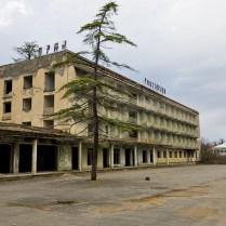 Abandoned Abkhazia airport hotel