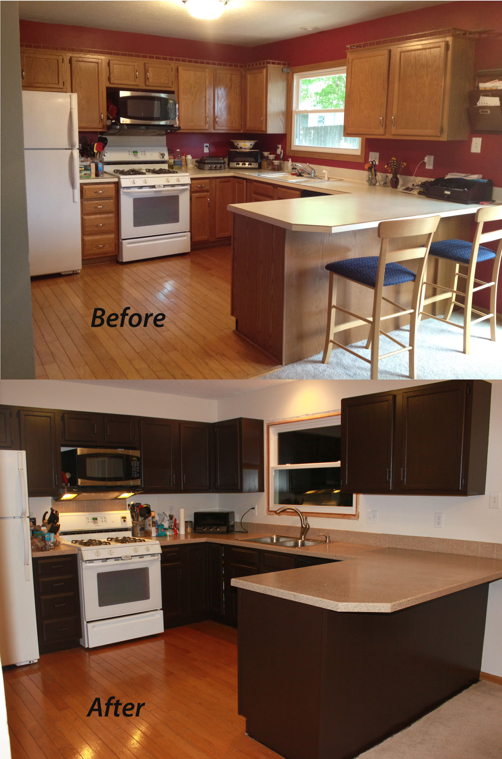 How To Paint Kitchen Cabinets In Mobile Home Painting Kitchen Cabinets Sometimes Homemade