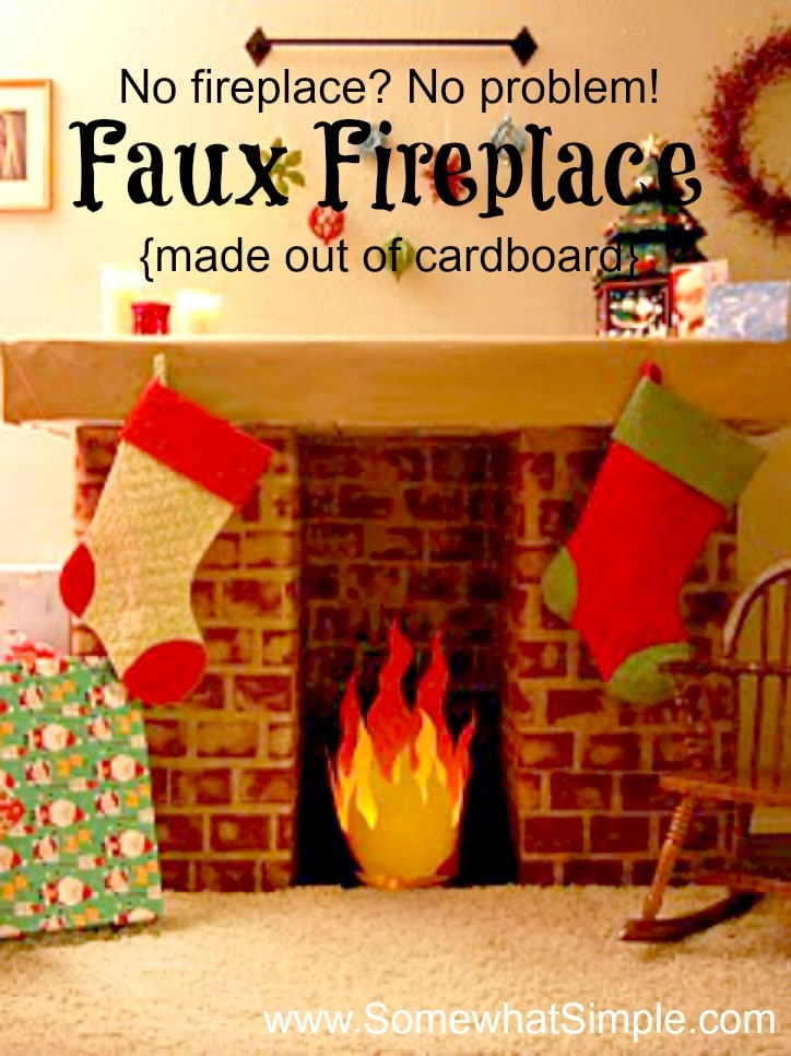Fake Chimney Faux Fireplace - How To Make A Fake Fireplace With Cardboard