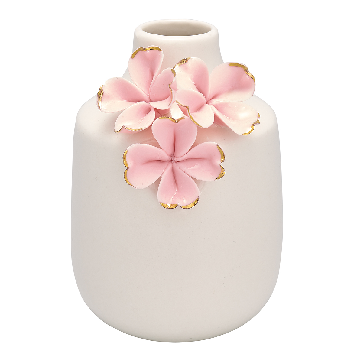 Greengate Dk Greengate Vase Flower Pale Pink W Gold Small Www