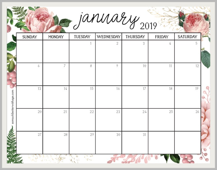 2019 Monthly Calendar So Much Better With Age