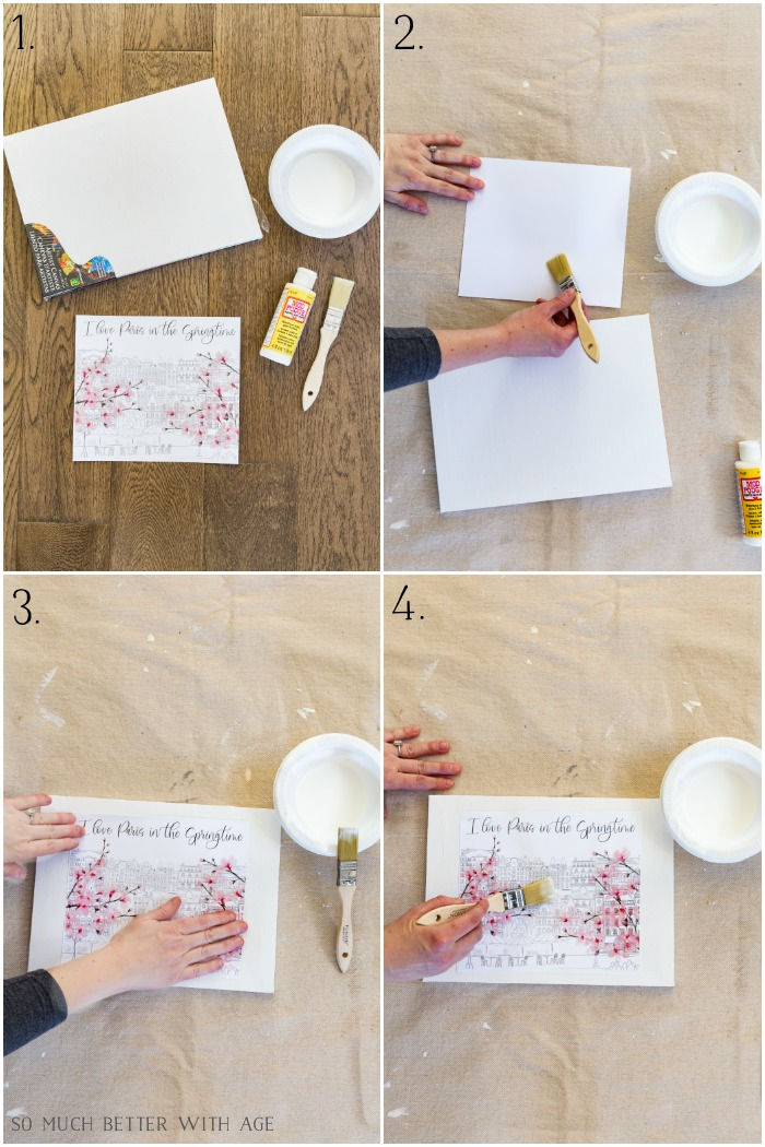 How to Make Canvas Art from Free Printables So Much Better With Age