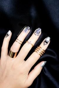 Black And Silver Nail Art | www.pixshark.com - Images ...