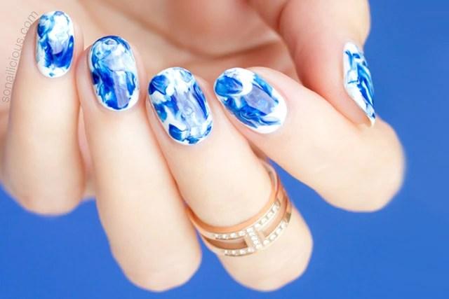 Nail Designs Marble Technique Communiquerenligne