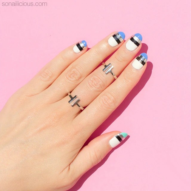 With Striping Tape Nail Art Ideas: 55 Best Striping Tape Nail Art