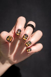 Vicious Pumpkin Nail Art [SoNailicious Halloween 2016]