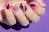Tutorial: Tropical Vacation Nails | SoNailicious | Bloglovin