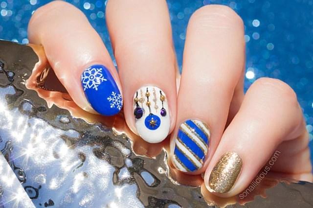 Happy Holiday Nail Art Plus How To Sonailicious