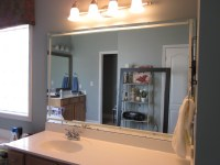 How to Frame Existing Bathroom Mirrors - Sondra Lyn at Home