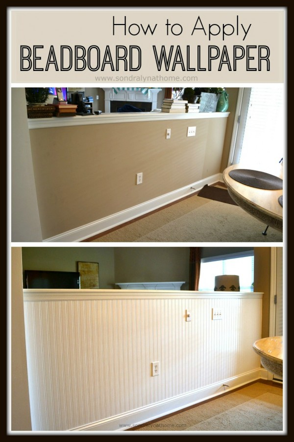 Home Depot Kitchen Wall Cabinets How To Apply Beadboard Wallpaper - Sondra Lyn At Home