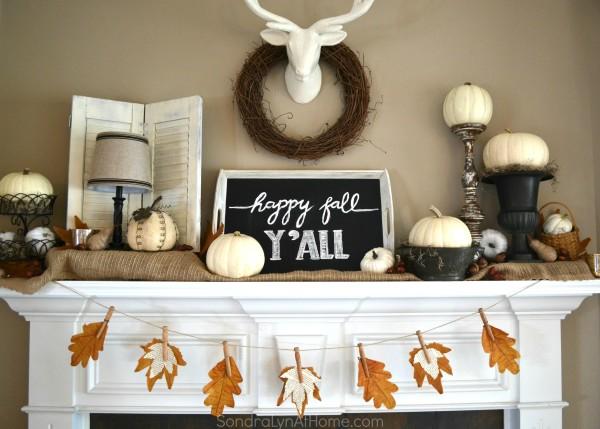 Fall Mantel 2015 -- Sondra Lyn at Home.com