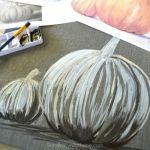 Fall Pumpkin – Acrylic on Tile
