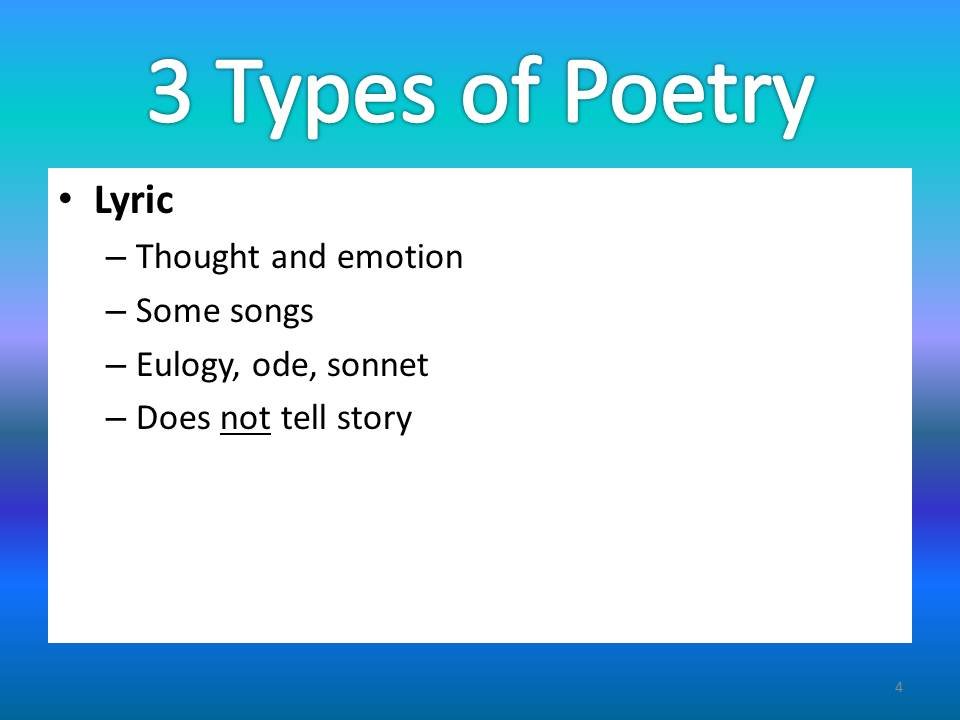 Exploring and Exploiting Poetry - Songs and Poetry for ESL - poetry powerpoint