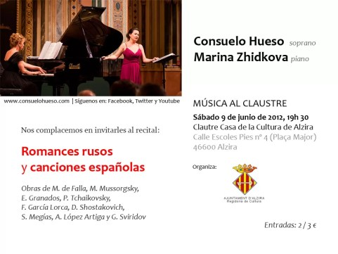 2012'VI'9. Alzira (Valencia). 'Procesión' por Consuelo Hueso y Marina Zhidkova - cartel
