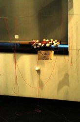 2012'IV'19-25. III MONO+GRAPHIC en el ICNY - 'The time in a thread' - partitura en la galería