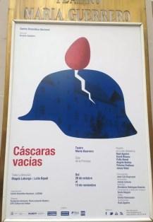 2016'X'26. Madrid. Cáscaras vacías en el Centro Dramático Nacional - cartel