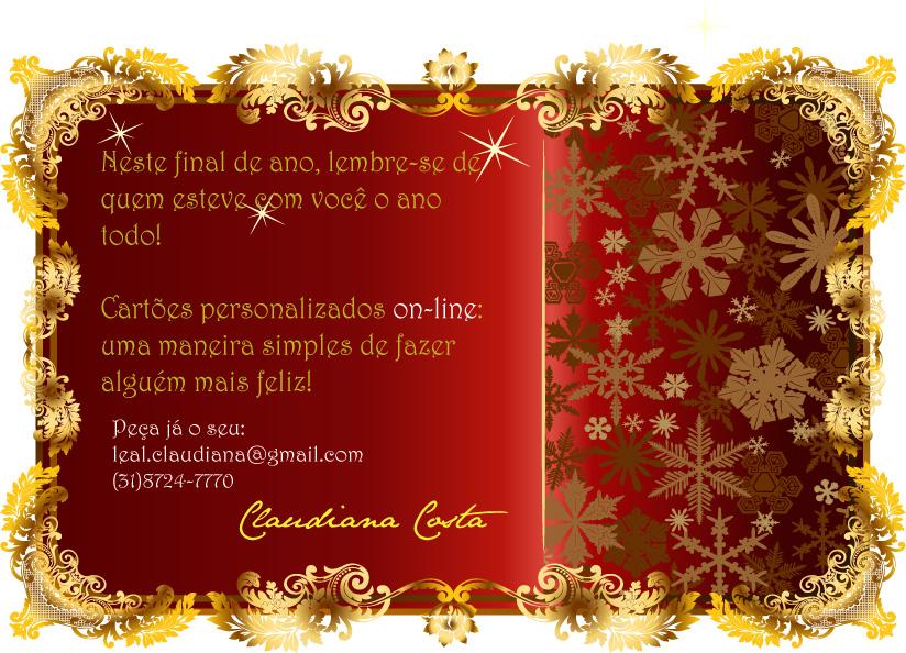 Já fez o seu cartão de natal e de ano novo? \u2013 Professora Sônia Pessoa
