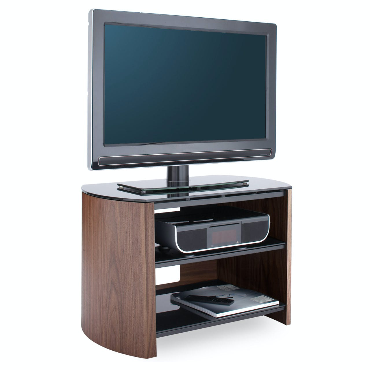 Alphason Meuble Tv Alphason Fw750 Wb Finewoods Tv Cabinet 750mm Wide In Walnut