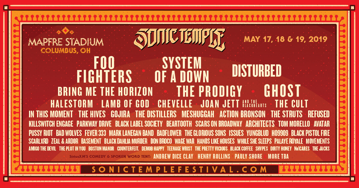 Lineup - Sonic Temple