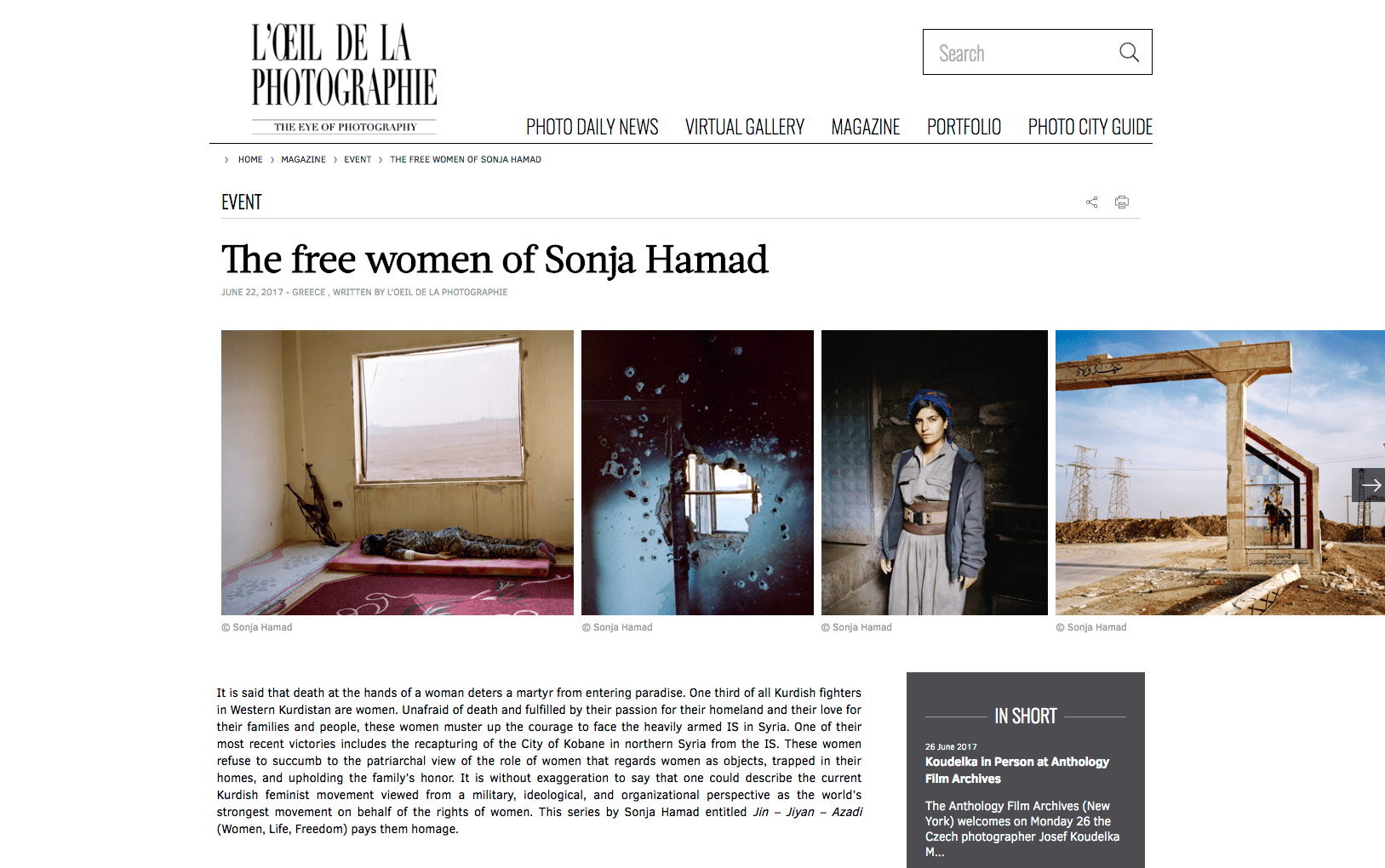 Arte Journal Programm News Sonja Hamad