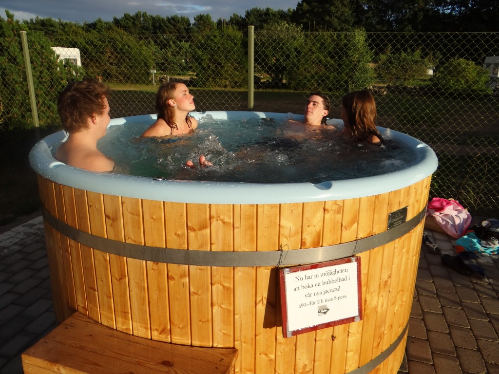 Jacuzzi Pool Utomhus Pool Camping Öland Barnpool Jacuzzi Hos Sonjas Camping