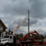 Securing Electrical Pole at Scotman's Hill for the City of Calgary