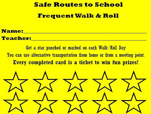 Frequent Walk  Roll  Pollution Punch Card Programs Sonoma County - punch cards