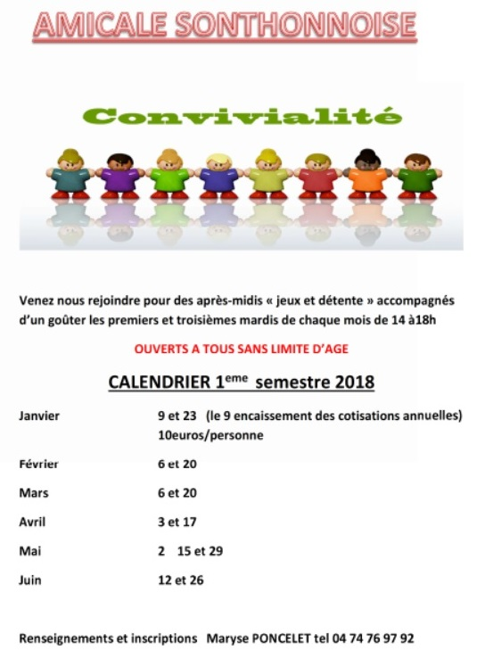 amicale sonth 2018