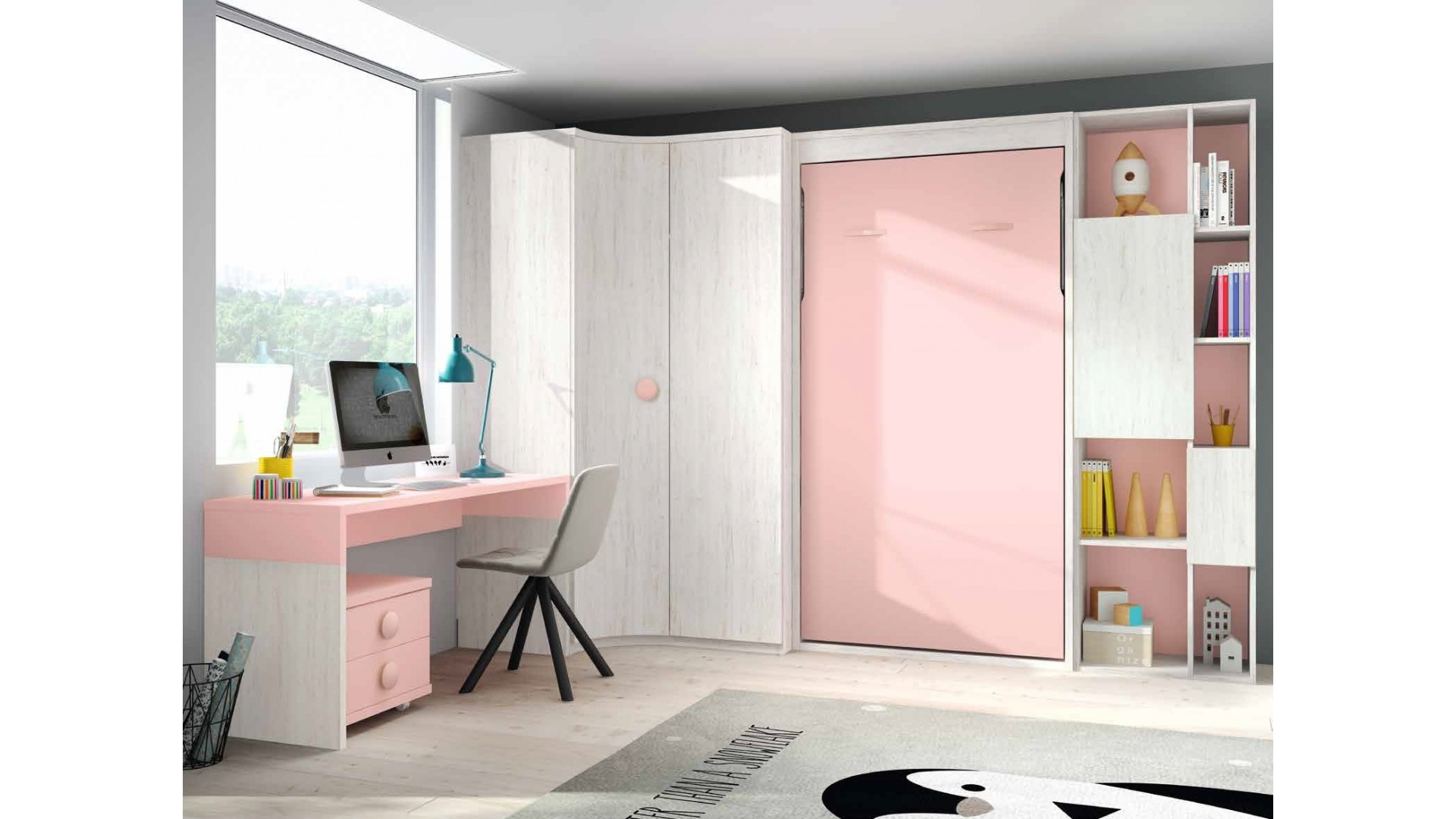 Lit Escamotable Vertical Lit Escamotable Vertical Chambre Personnalisable F419 2 Glicerio