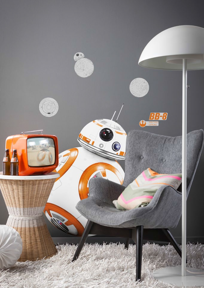 Chambre Adulte Star Wars Stickers Muraux Star Wars Droide Bb-8 - Disney Komar - So Nuit