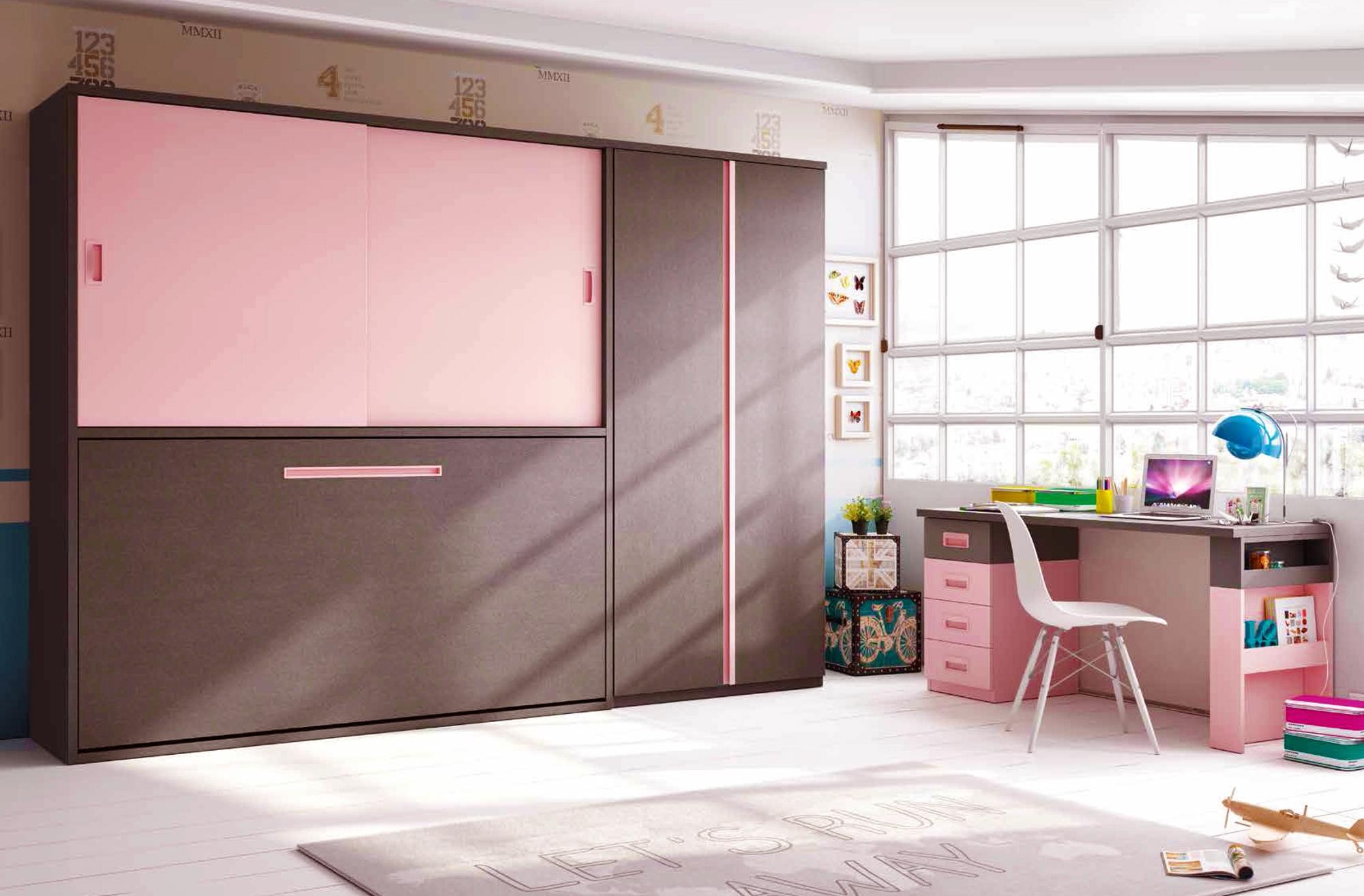 Chambre enfant avec bureau bureau avec rangement frais lit