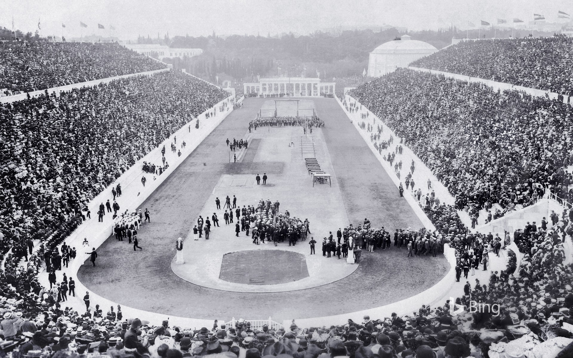 Wallpaper White Black Opening Ceremony Of The 1896 Olympic Games In Panathinaiko
