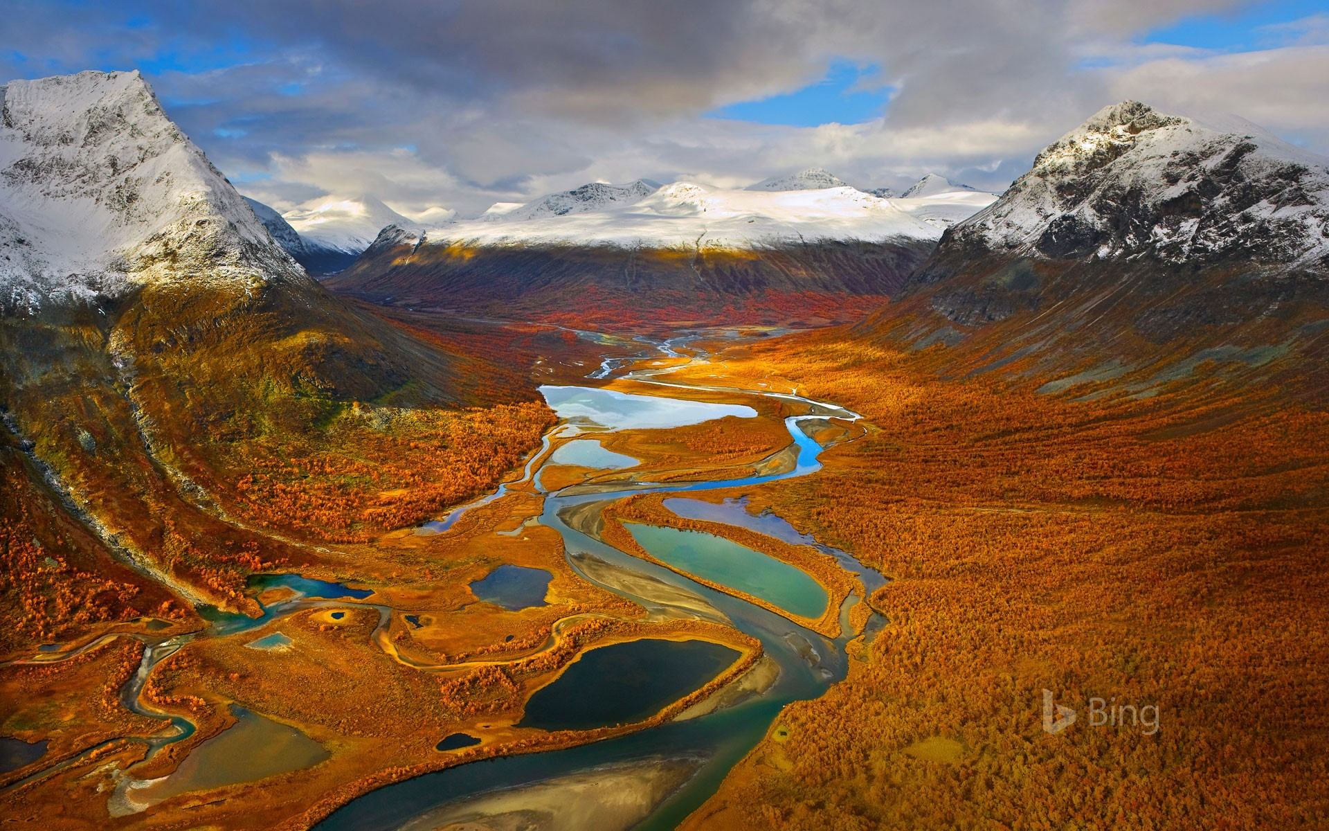 Home Screen Wallpaper Fall The Rapa Valley In Sarek National Park Sweden 169 Hans