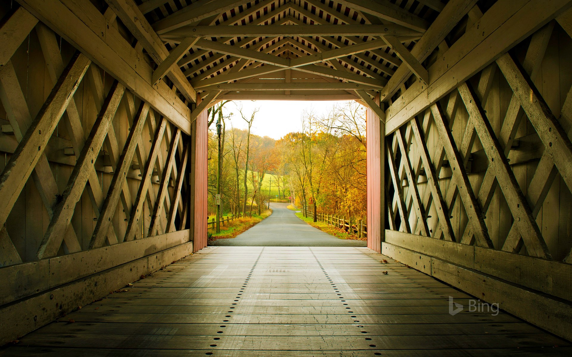 Fall Path Wallpaper Ashland Bridge In Yorklyn Delaware 169 Robert Kirk Getty