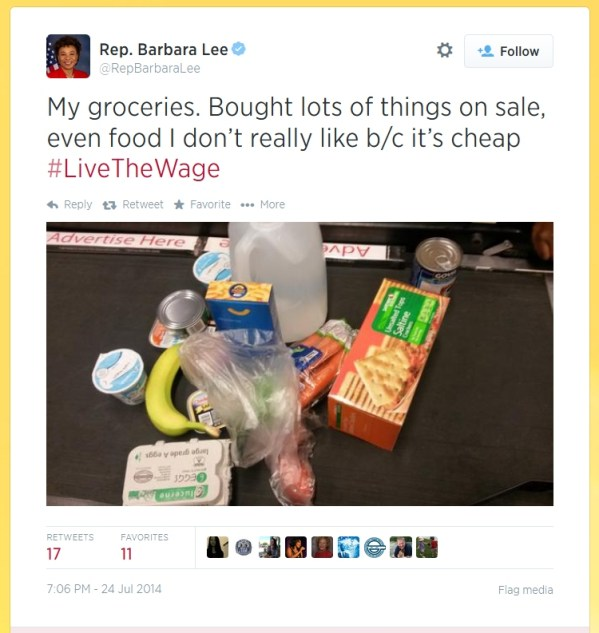 barbara lee live the wage tweet