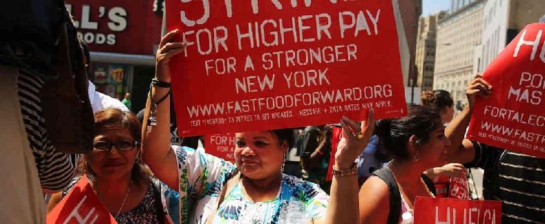 fast food strike