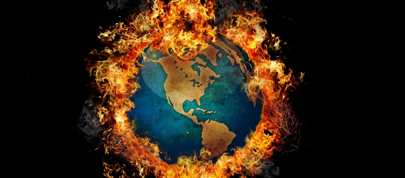 global warming earth fire
