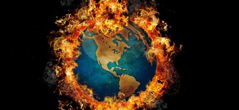 global warming earth fire