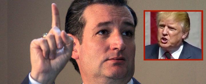 ted cruz pointy finger trump