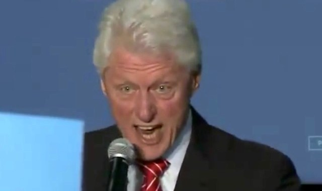 bill clinton yelling