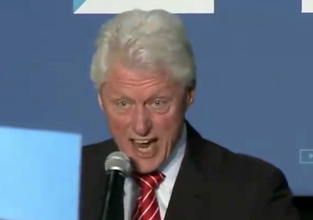 bill clinton yelling