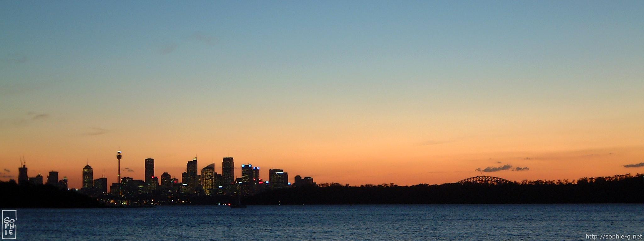 400 800 Hd Wallpaper Sydney Skyline At Sunset 2048 215 768 Desktop Wallpaper
