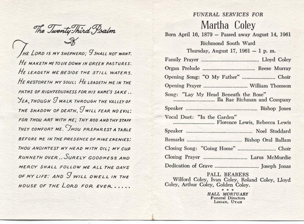 memorial service program examples - Google Search clambake - program for a funeral