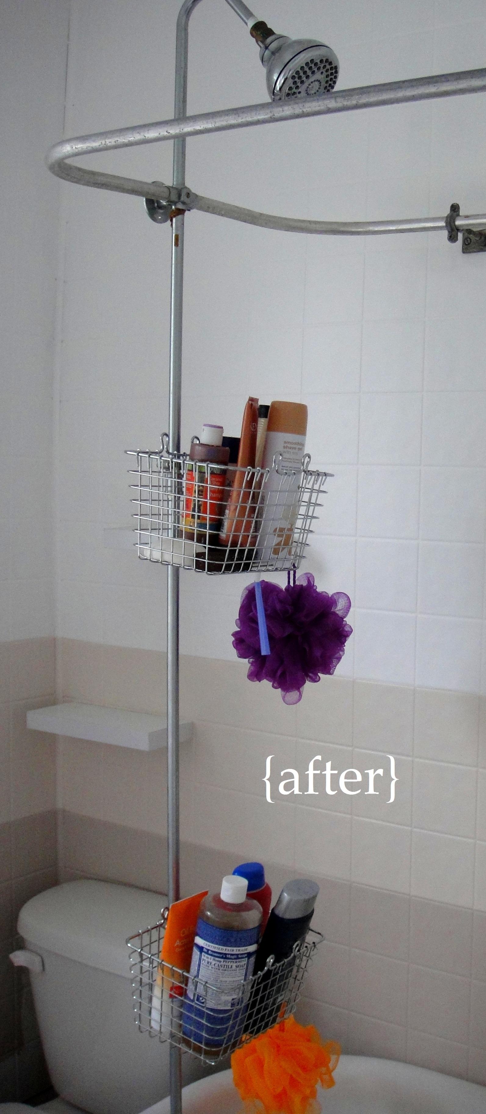 Bathroom mini renovation part 3 diy shower storage so