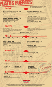 cuban menu design