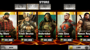 WWE Immortals high end characters (Undertaker, John Cena, Trish Stratus, Big Show)
